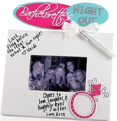 The Perfect addition to a Bachelorette Party, this autograph frame will we a fun keepsake for the Bride!