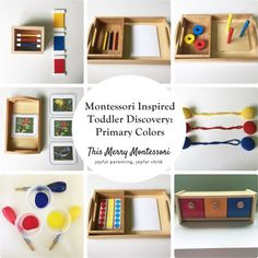 Montessori Inspired Toddler Discovery- Primary Colors--This Merry Montessori