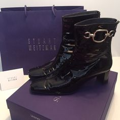 Stuart Weitzman Boots STUART WEITZMAN like new, never worn outside. Authentic. Fits like a 9, says 9.5M 8W.         Box, Bag and receipt holder included!!!!!!  Will take offers as they are sitting in my closet because I'm too afraid to get them dirty!  If you are interested, MAKE AN OFFER!!!  Stuart Weitzman Shoes Ankle Boots & Booties