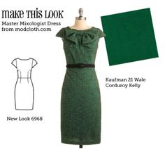 Make this look. (via MTL: Master Mixologist Dress - The Sew Weekly Sewing Blog & Vintage Fashion Community)