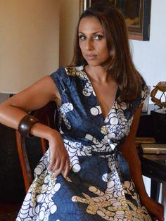 Sylvia Dress - Africa Kitenge  #kitenge #africa #dress #africanfashion #fashion #nairobi #africandress #kenya #kitengedress http://njemahelena.tictail.com/product/sylvia-dress-grey