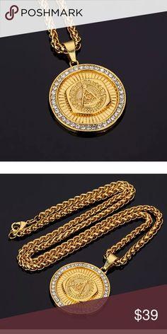 7157022213e I just added this listing on Poshmark  Masonic Pendant Necklace Men Hip Hop  Jewelry.