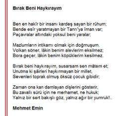 Edebiyat Öğretmenim SBA: Bırak Beni Haykırayım / Mehmet Emin YURDAKUL