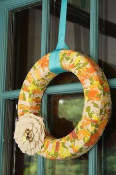 vintage fabric wreath