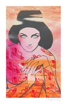 """Hello Kitty (Tallulah Bankhead)"" by Niagara - Limited Edition, Fine Art Print"
