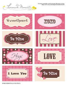 Valentine's Cards - Free Printable