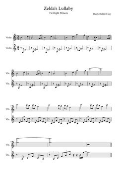 Sheet music made by Dusty for 2 parts: Violin