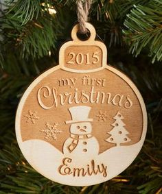 'My First Christmas' Personalized Ornament