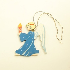 Vintage Christmas Ornament Angel with Candle West by efinegifts, $9.95
