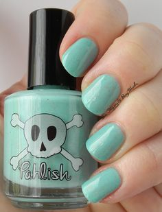 Pahlish Tropical Island Treasure   Be Happy And Buy Polish http://behappyandbuypolish.com/2015/04/15/pahlish-buccaneers-and-buried-gold-nail-polish-collection-swatches-review/