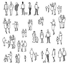 Architecture Drawing People