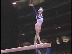 Amanda Borden, Captain of the 1996 US Women's Olympic Gymnastics Team. This is an INCREDIBLE routine. She had such confidence and poise on the beam.