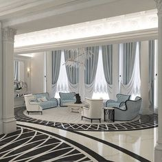 Living room modern modern house curtains modern curtain ideas charming modern curtains for living room and best contemporary curtains ideas on home home Classy Living Room, Living Room White, White Rooms, Living Room Sofa, Classic Interior, Luxury Interior Design, Home Interior, Interior Livingroom, Living Room Modern