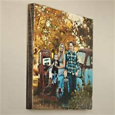 This 10x10 picture is printed directly on solid wood!