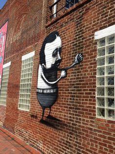 Juxtapoz Magazine - Stormie Mills in Richmond, Virginia Street Art, Street Graffiti, Wall Street, Graffiti Painting, Australian Artists, Urban Art, Cool Art, Batman, Superhero