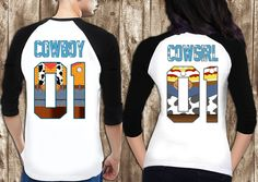 Disney Woody Jesse Style Raglan Couples Collection, TOY STORY Couple Tee shirt, Disney Style Raglan Shirts Shirts for Couples by somanygreatthings on Etsy