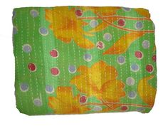 Hey, I found this really awesome Etsy listing at https://www.etsy.com/listing/196843472/vintage-throw-kantha-quilt-n-ethnic