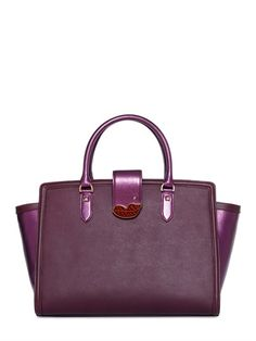 PATRIZIA PEPE FEAT.ELEONORA CARISI - EXTRA KISSED SAFFIANO LEATHER TOP HANDLE TOTE, ON SALE HERE: http://rstyle.me/~3MyOU