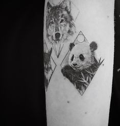 Check out the best celebrity tattoos you may not have noticed just yet. Lyric Tattoos, Body Art Tattoos, Small Tattoos, Sleeve Tattoos, Tattoo Quotes, Tatoos, Bear Tattoos, Animal Tattoos, Panda Tattoos