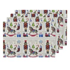 Lamona Cloth Placemats featuring Christmas Toys by floramoon_designs   Roostery…