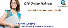 Quontra Solutions provides QTP  training by Real time Industry experts. QTP is having good demand in the market. Our QTP online training Instructors are very much experienced and highly qualified and dedicated.  Our QTP online training program is job oriented. After completion of QTP training with us you should be able to work on any kind of project. After completion of QTP online training our dedicated team will be supporting you.