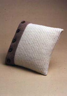 Beautiful buttoned pillow pattern that is easy enough for a beginner.