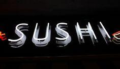 Szyld dla restauracji SUSHI