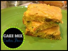 Making each minute count: Cake Mix Cookie Bars [recipe]