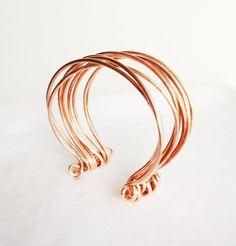 STRINGS  -  Copper Multi-Band Bangle. $40.00, via Etsy.