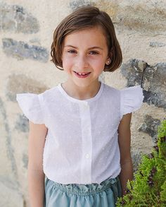 Blusa plumeti blanca con alas | Corazón de león KIDS moda infantil
