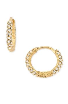 SILVER Nadri Oval Inside Out Pavé Hoops available at #Nordstrom