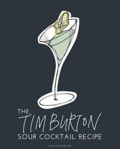 The Tim Burton Sour Cocktail Recipe