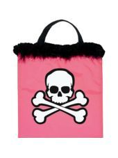 Pink Skull and Crossbones Treat Bag - Party City