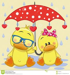 Two Ducks With Umbrella - Download From Over 49 Million High Quality Stock Photos, Images, Vectors. Sign up for FREE today. Image: 55182331