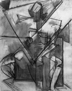 Seated_Nude_Study Seated Nude Study 1938 (SOLD) Charcoal on paper 25 x 20 inches x cm) Signed and dated lower left Lee Kasner Expressionist Artists, Abstract Expressionism Art, Abstract Drawings, Abstract Art, Lee Krasner, Life Drawing, Figure Drawing, Art Archive, Art Programs