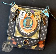 Steampunk Spells Tag Tutorial By: @Susan Caron Lui Product by: @Anna Nadal 45® Post it note holder.