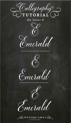 Calligraphy tutorial - Letter E