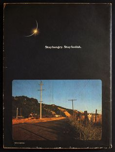The Whole Earth Catalog (Epilog) Back Cover. by extrabox 70s Quotes, Tumblr Quotes, Foolish Quotes, Games Room Inspiration, Steve Jobs Biography, Book Of Job, Whole Earth, Good Listener, Book Images