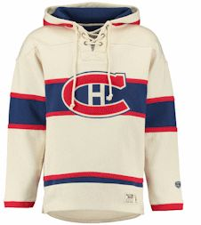 7e44443ff Men s Old Time Hockey Tan Montreal Canadiens Lacer Heavyweight Pullover  Hoodie