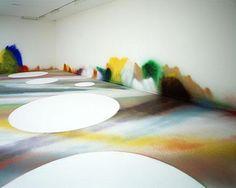 2006 / acrylic on wall, floor, soil, styrofoam boards and canvas / Amsterdam / interior