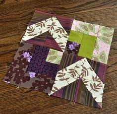 Royal Patchwork Quilt Block Pattern - When you combine quilt block patterns with royal purple fabric, the results are fantastic. This absolutely lovely and surprisingly constructed free block pattern shows you how to make a quilting block that is 2 part log cabin quilting and two parts flying geese. Combing several popular block techniques, this interesting idea can be created out of scraps from your fabric stash.