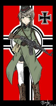 Original Character: Die Gefreiter by Zeykos on DeviantArt Anime Military, Military Girl, Manga Art, Manga Anime, Anime Art, My Character, Character Design, Military Archives, Anime Weapons