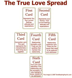 Tarot Spreads - The True Love Tarot Card Spread