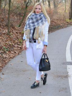 #michaelkors #zara #fashion #style #look #ootd #scarf #vest #fur