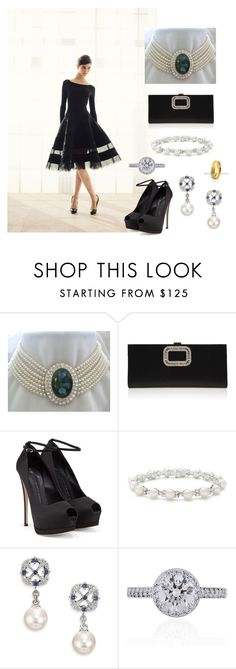"""""""Reception at Brisbane convention and exhibition centre"""" by dezac-novaes on Polyvore featuring Roger Vivier, Giuseppe Zanotti, Tiffany & Co. and Mikimoto"""
