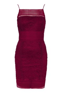 Photo 1 of Floral Crochet Lace Bodycon Dress