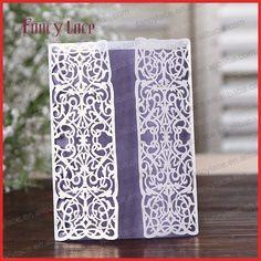 2016 boda de la venta caliente personalizada Material de corte láser de alta calidad al estilo europeo hermoso de encaje tarjetas de invitación de boda, 50PCS