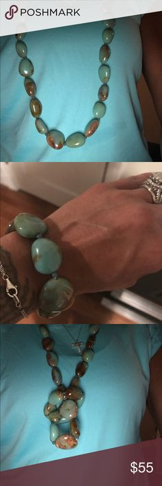 BCBG necklace and bracelet. BCBG Emerald necklace and matching bracelet. Worn once. Great condition. Set $55 or you can purchase separate. BCBG Jewelry Necklaces