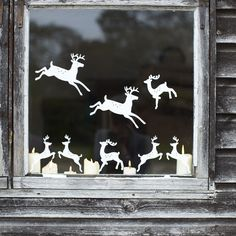 Deer Window Sticker . Looks so cute:}