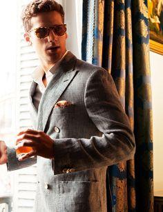 Ralph Lauren suit.
